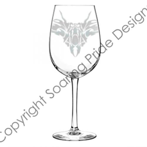 Etched Wine Glass Tattoo Jets